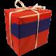 Cadeaupapier -dessin 58- rood / blauw 50 cm x 400 m Tpk340585