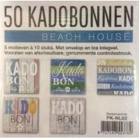 Cadeaubonnen Beach House 50st. Tpk730831