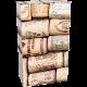 Flesdoos met kurkprint voor 2 flessen 10st Tpk475045
