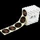 Etiket a gift for you zwart/koper 500st Tpk548212