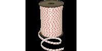 Krullint poly -hartjes- wit/rood 10mm x 25m Tpk711310