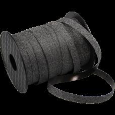 Krullint zwart glitter 10mmx100m Tpk776951