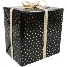 Cadeaupapier zwart-goud 30cm 200m Tpk342023