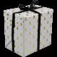 Cadeaupapier Kerst wit goud 30cm 200m Tpk783803