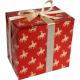Cadeaupapier Sint rood/goud 30cm 200m Tpk767043